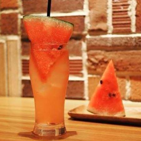 Frozen watermelon soda popular with children