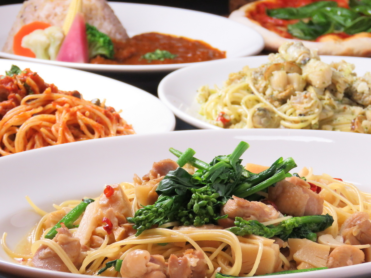 Classic Popularity ♪ Seasonal Pasta + Lunch with Buffet
