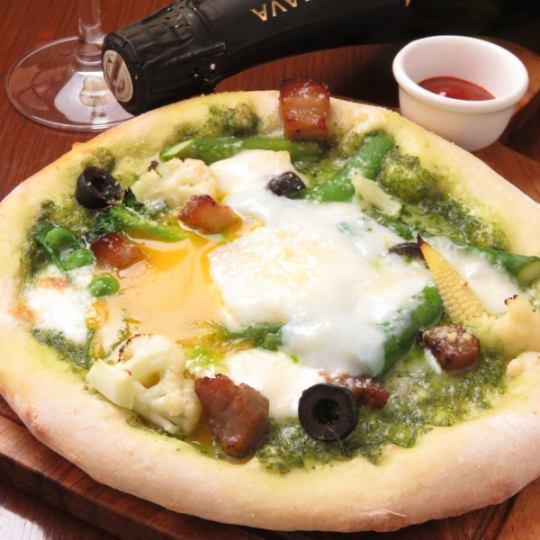 【Dinner Buffet】 Pizza + «Deli · Salad · Soft Drink etc. Buffet» 1980 yen (tax included)