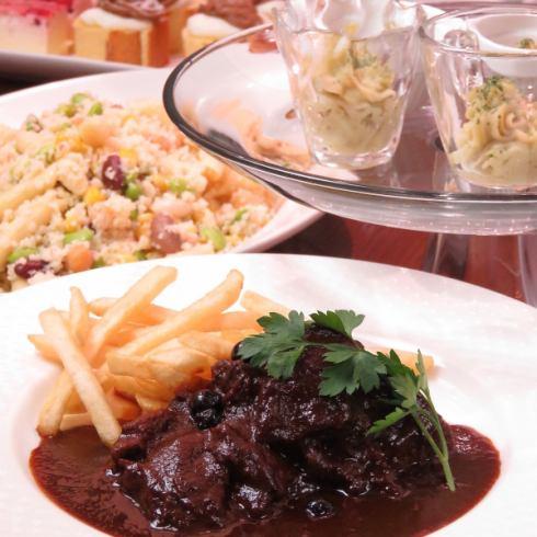 用自助餐開始晚餐!以合理的價格享用正宗的意大利COCOSA地下商店♪