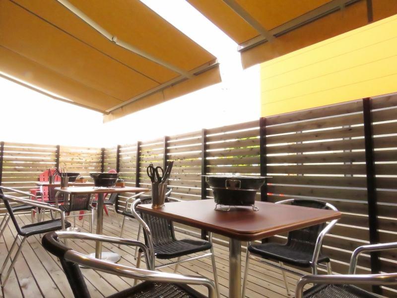 We have a terrace seat rare in Yakiniku!