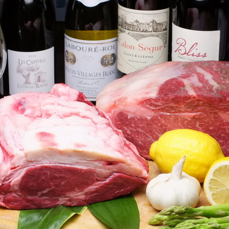 Japanese beef cattle carefully selected and purchased