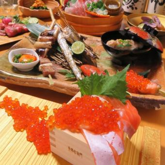 Sashimi · Kushimori · Rice pottery ... 2 hours with all you can drink course 5000 yen ※ 4500 yen with coupon use!