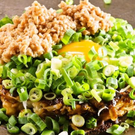 (頂部)蝦/奶酪/納豆/蔥/瑪雅瑪雅
