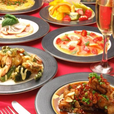 ■ Room 12 Lunch Limited Party Course B 【1800 yen】 (6 dishes) ※ Drinks are not included