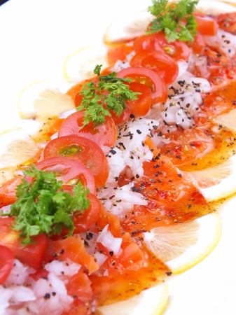 ● Norwegian salmon carpaccio