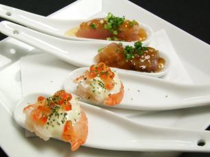 ● TAPAS of daily changing seafood