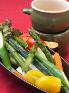 ● Reduced pesticide vegetables Bagna cauda