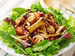 ● Warm salad with mushroom in the forest