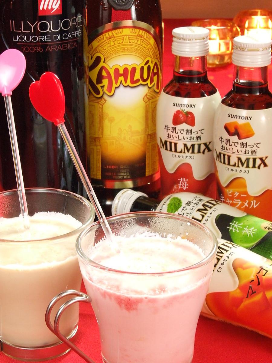 """여성에게 대인기의 Milk 계 칵테일도 충실! Stuff 추천은 """"초코 바나나"""" """"카라멜""""의 2 종류"""