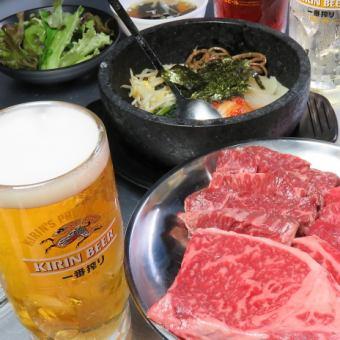 【中落ちカルビ・ハラミ等 240gのお肉が楽しめる♪】オンリーギューBセット6品2,508円 (税込)