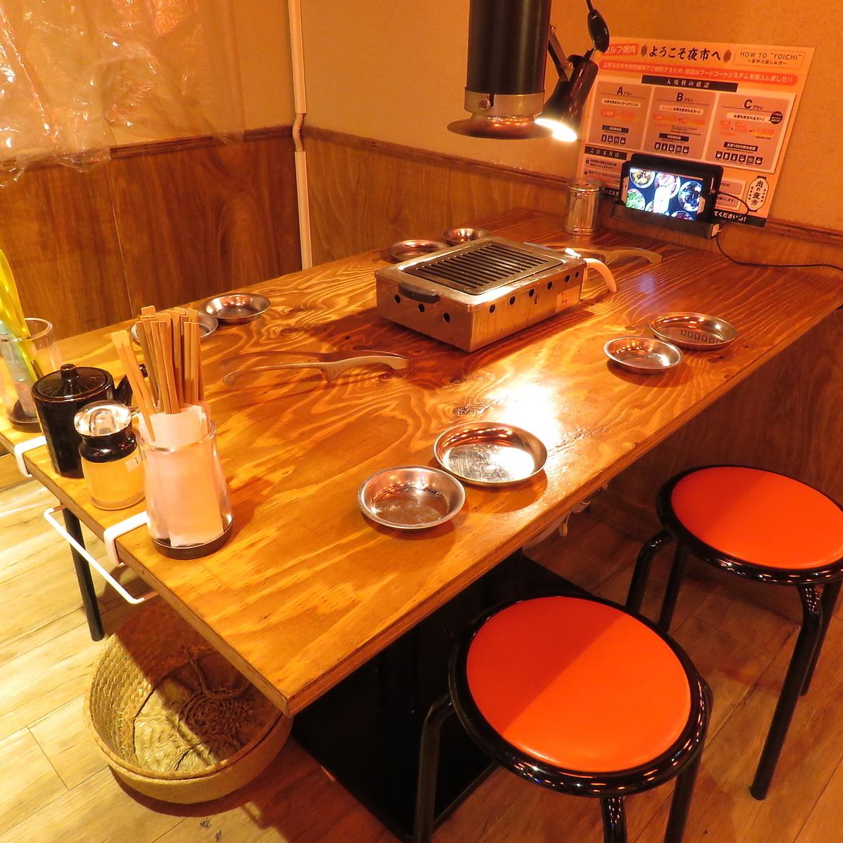 4~6名様用テーブル席