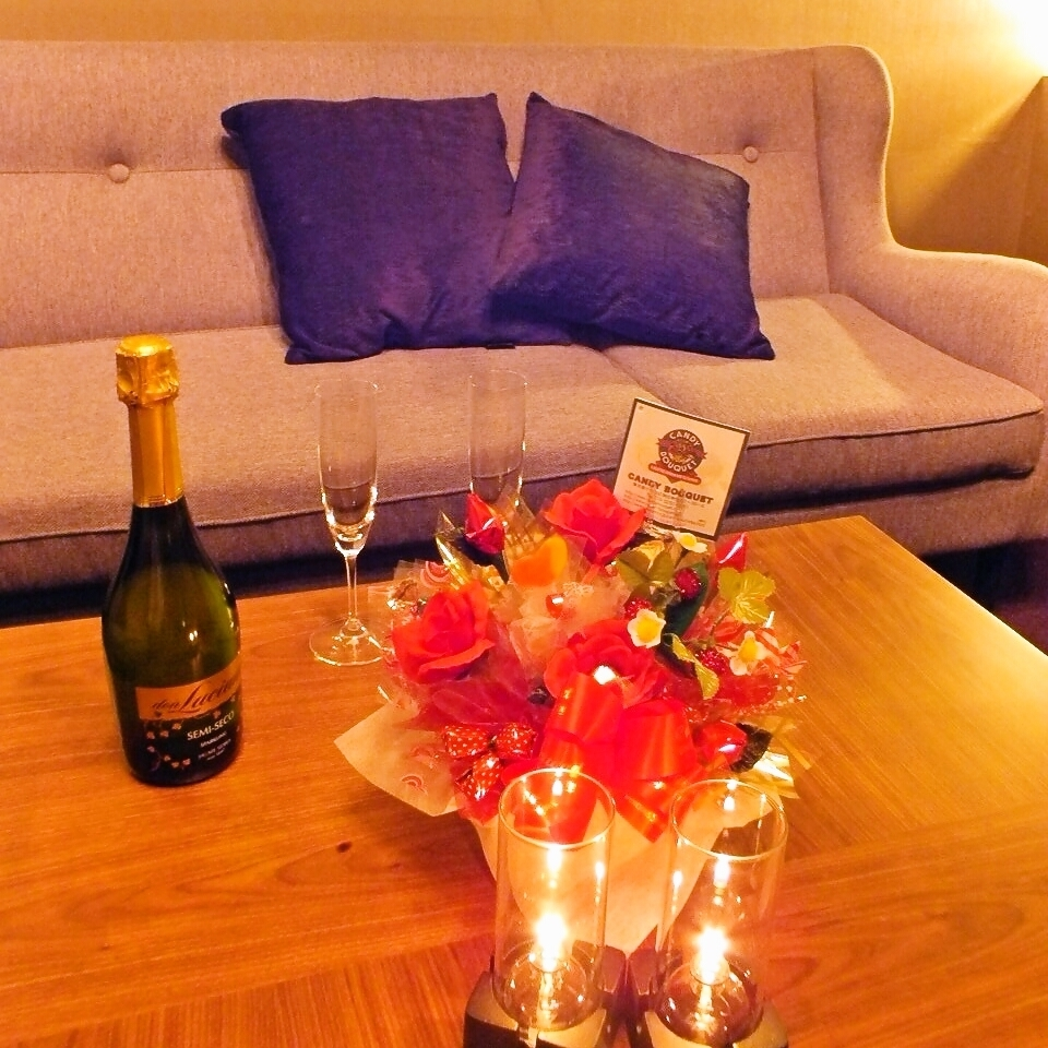 Completely private room that you can relax in the sofa seat with VIP impression.Ideal for small party party ♪