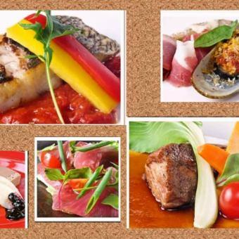 【豪华的鹅肝和牛排......】高级套餐7项5500日元⇒5000日元+ 2小时饮料所有你能负担1500日元