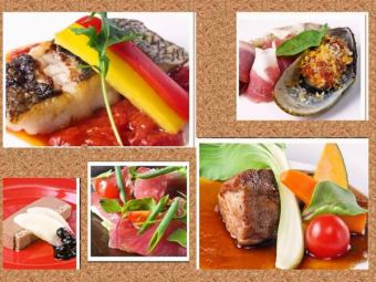 【Luxurious foie gras and steaks ...】 Premium course 7 items 5500 yen ⇒ 5000 yen + 2 hour drink all you can afford 1500 yen
