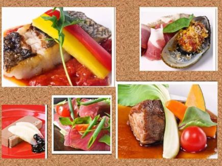 [Foie gras and steak a luxury ...] premium course 7 dishes 5500 yen ⇒5000 yen +2 hours all you can drink for 1500 yen