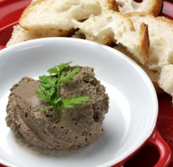 Homemade young rich thick white liver paste
