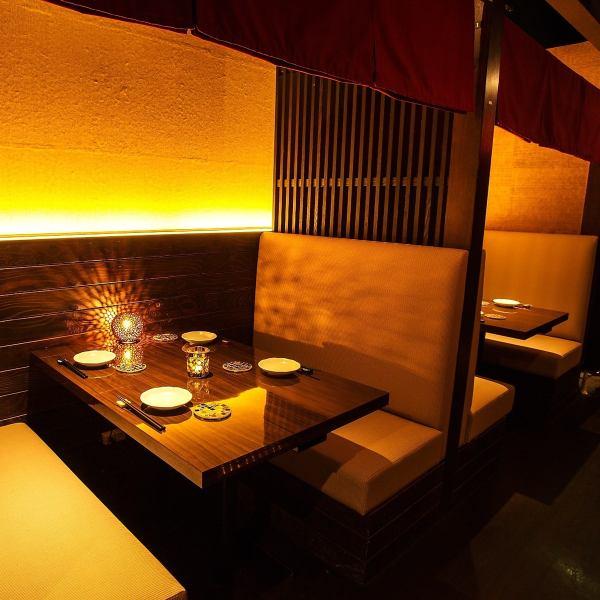 出乎意料的没有吸引力的空间非常适合宫空·妇女协会♪这种氛围是一个免费的饮料,从3000日元〜!