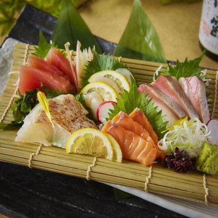 Assorted sashimi 5 types 3 pcs