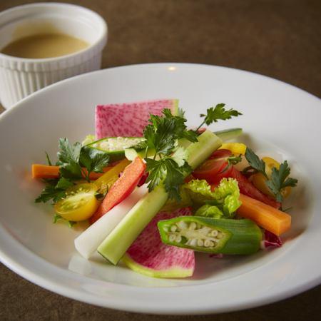 绫蔬菜Bagna马尾