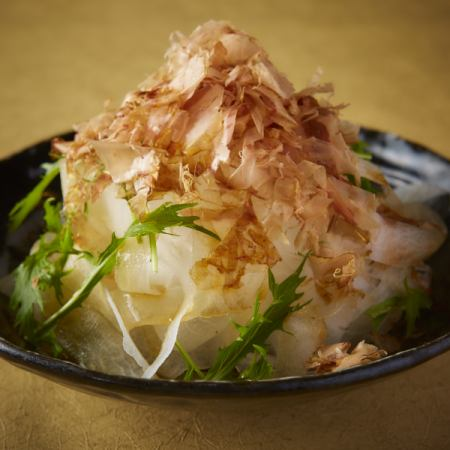 Japanese style salad with mizuna and radish