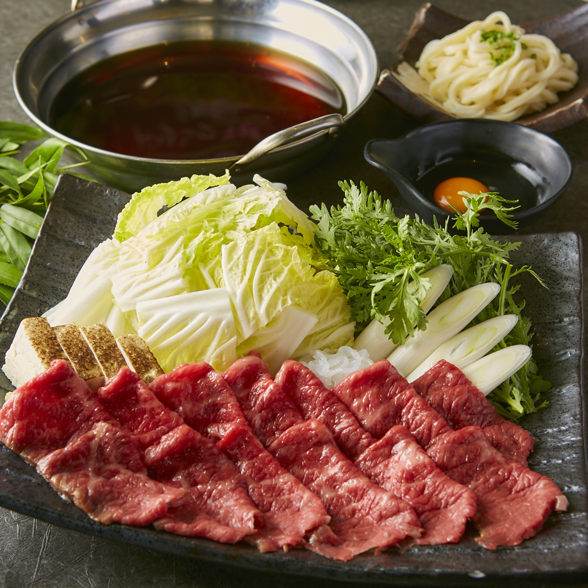 숙성 고기 쇠고기 전골