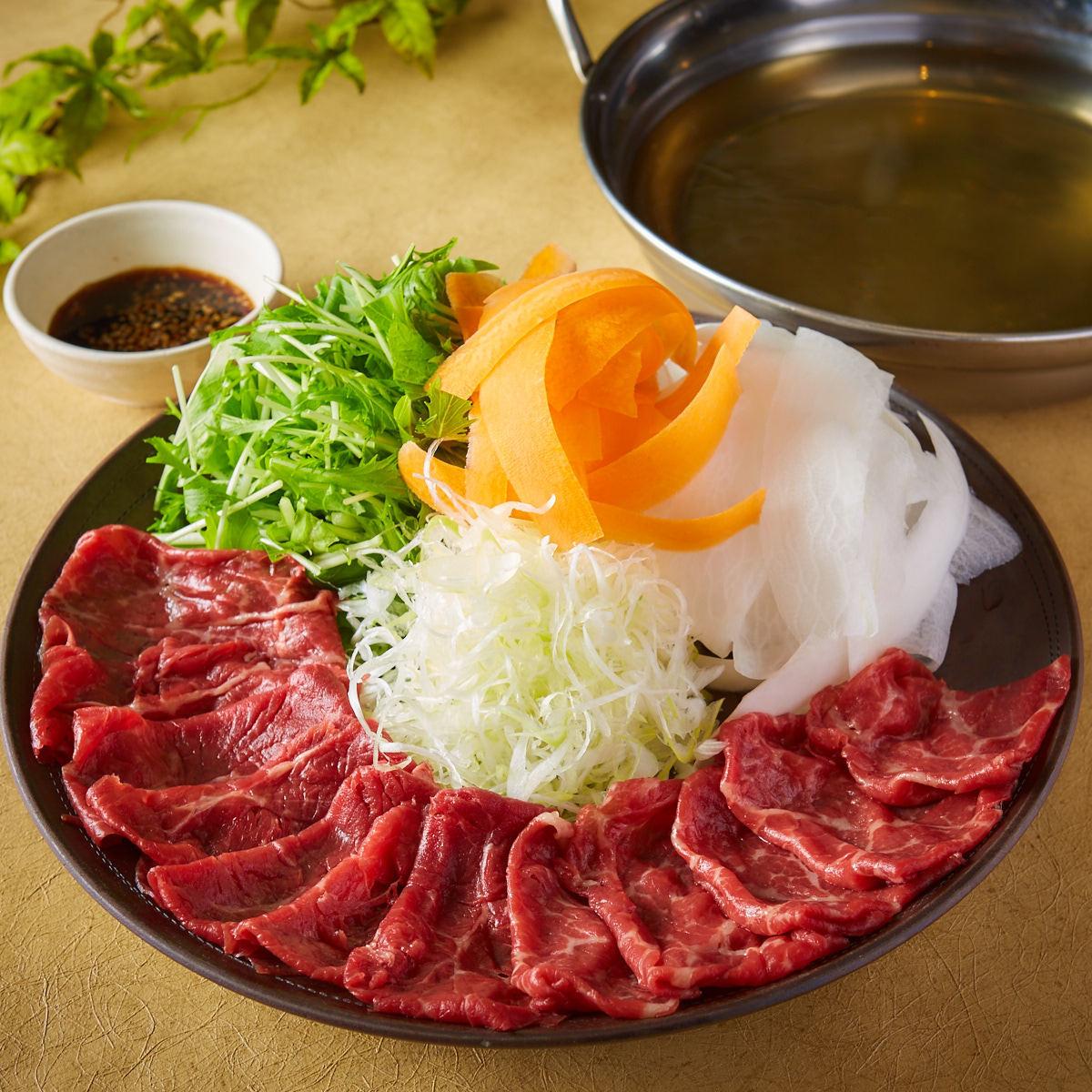 숙성 고기 쇠고기 샤브샤브