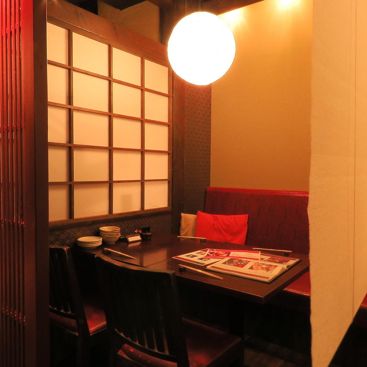 半個室のプライベート空間。宴会から、誕生日会まで幅広くお使いください。