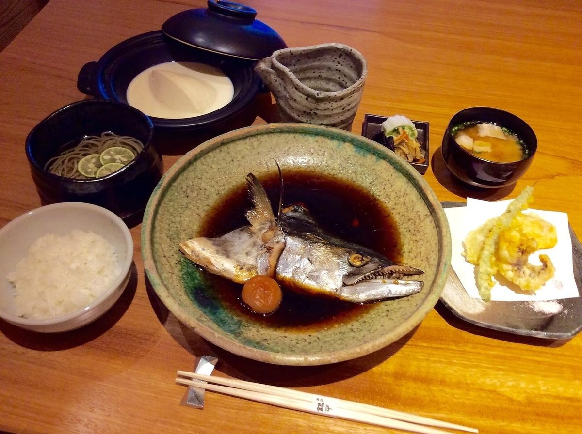 Boiled fish set menu