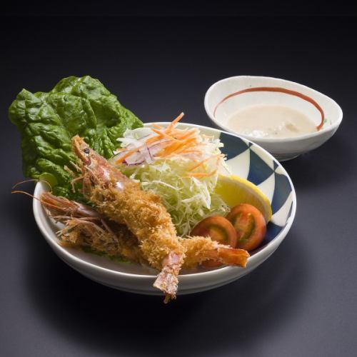 Fried prawn set meal