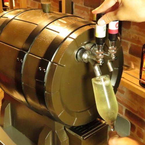 女性人気☆樽生スパークリングワインがCOLOREで楽しめる!