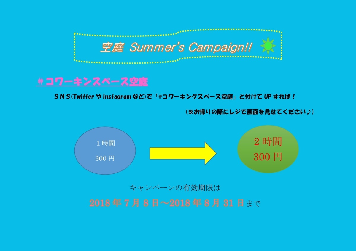 Summer campaign in progress !!