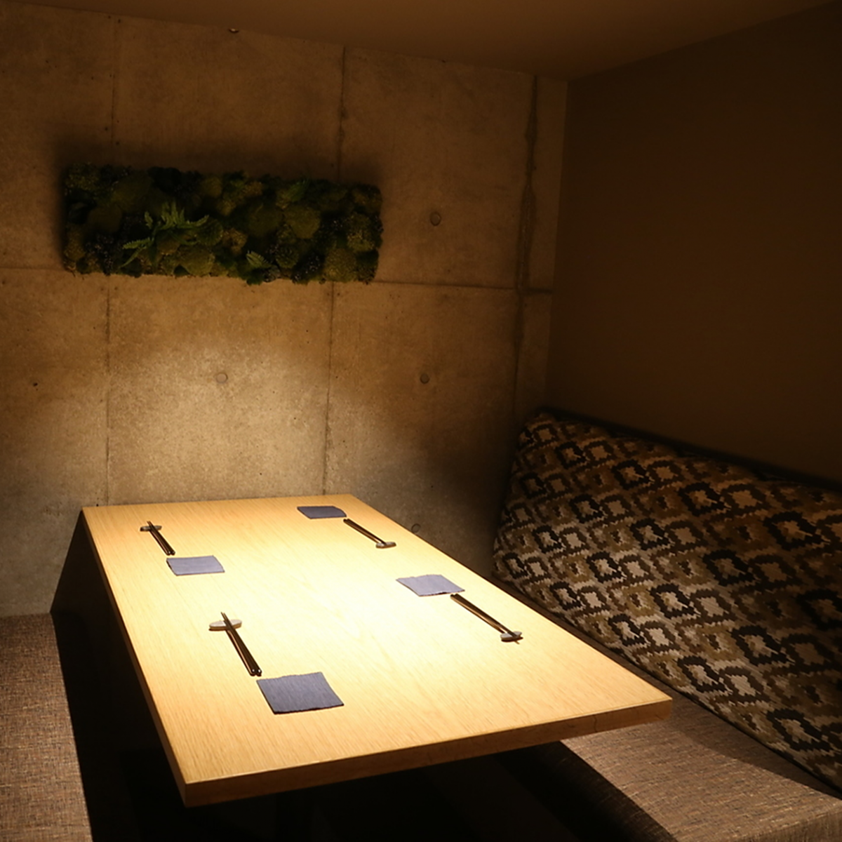 【Half private room with small number of people】