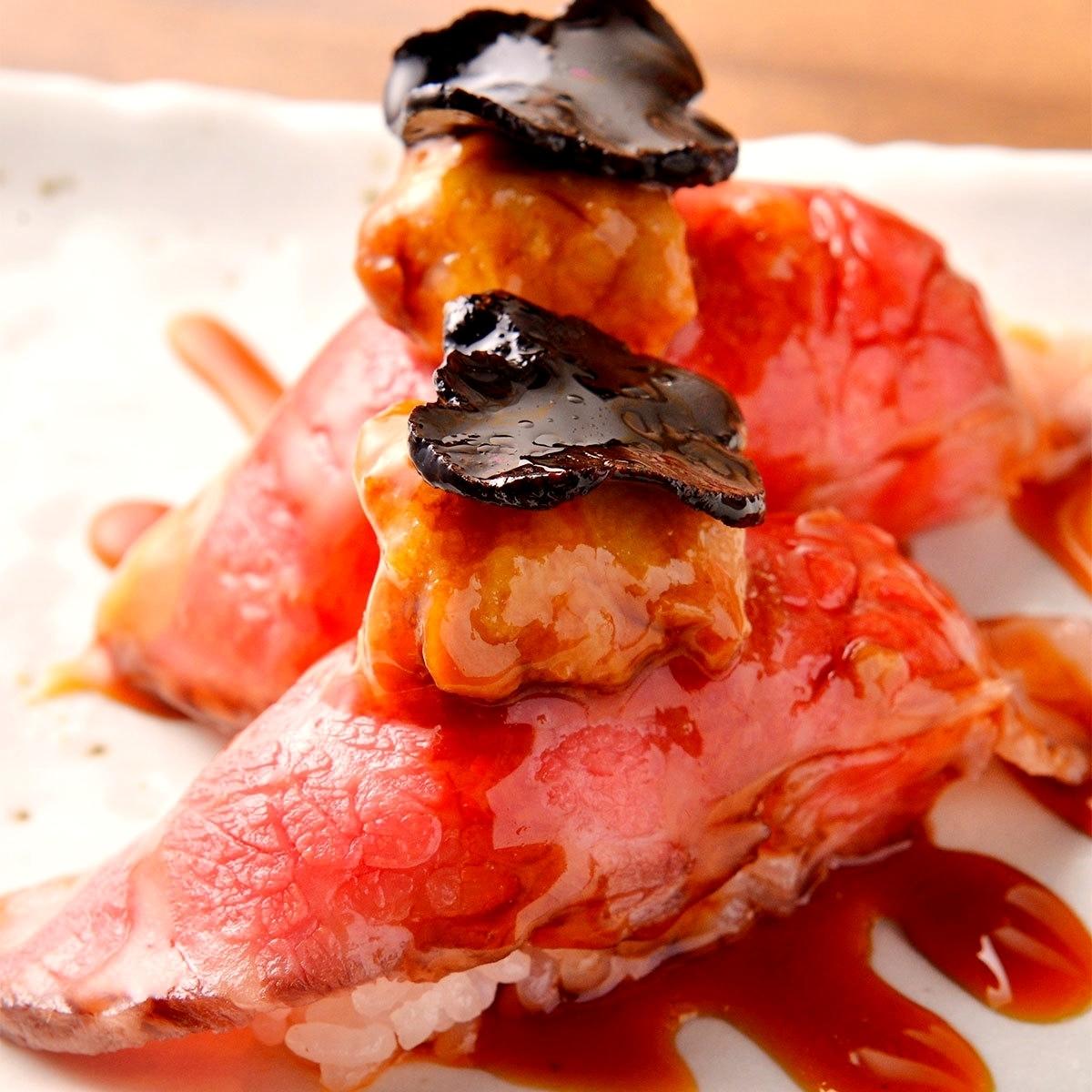 对于肉类寿司!