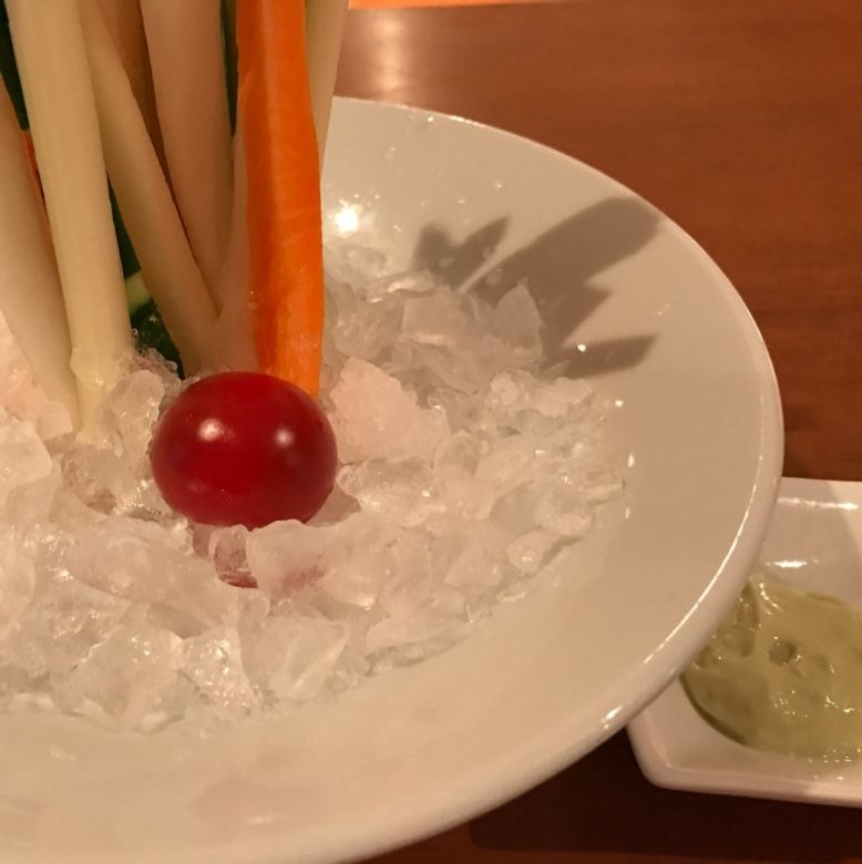 Vegetable stick ~ with 2 color sauce ~