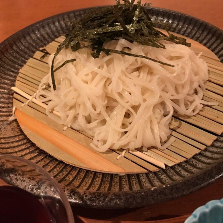 Cold inami udon / cold raw soba