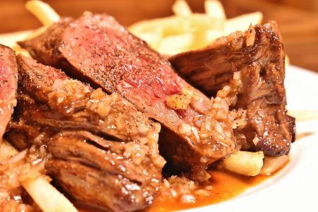牛肉裙牛排牛排薯条
