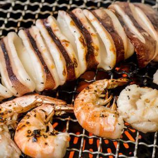 Squid / shrimp