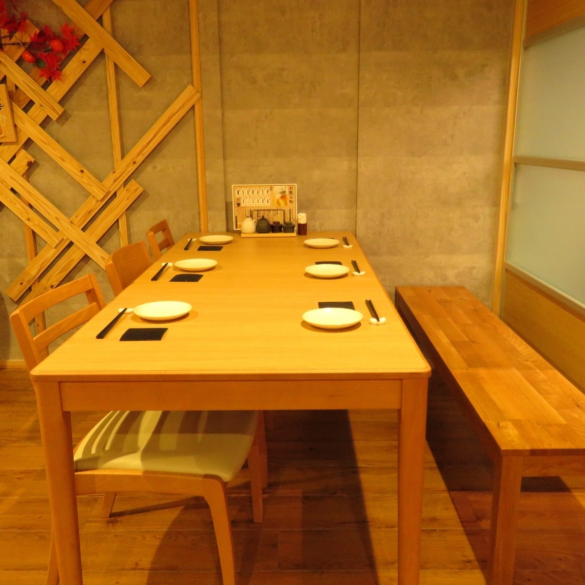 It is a table seat of 6 people ♪