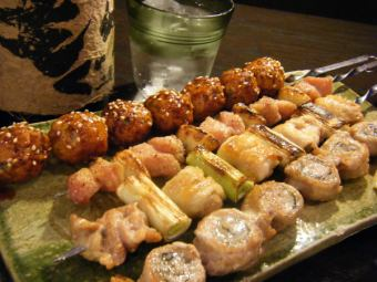 Assortment of skewers