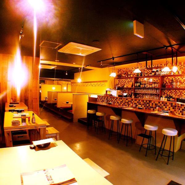 適合最多可容納58位客人的宴會!因為它是一層樓,可以舉辦大量宴會和私人宴會!從小型私人宴會到大型企業宴會,您可以在各種場景中使用它這是日本人的空間☆用串切的cheon敬酒♪