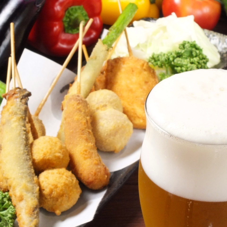 所有你可以喝課程或單項OK!伴隨kushikatsu◎