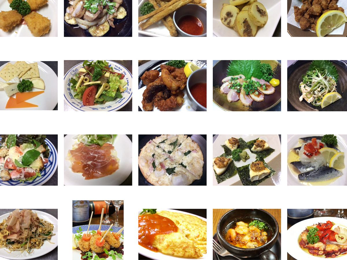 Private small plates are nice Tapas ♪ ♪ 380 yen ~ about 50 species!