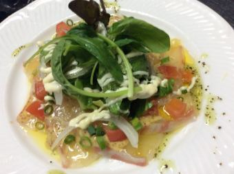 Carpaccio of sea bream