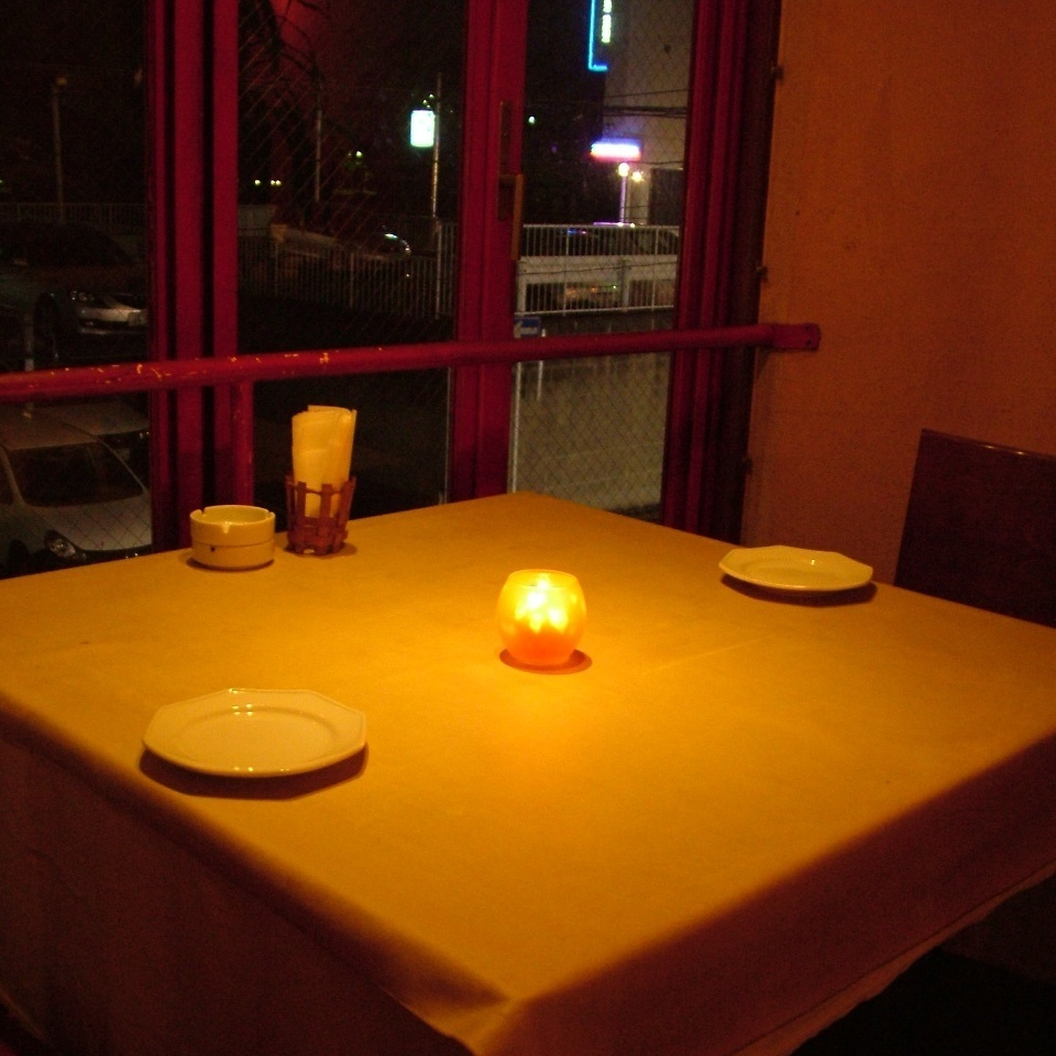 【Delicious dish in candle lighting fashionable space】