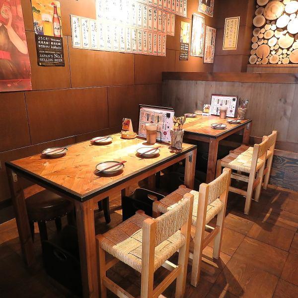 テーブル席は2名様~お気軽に♪内野駅から徒歩1分!サク飲みも大歓迎です!