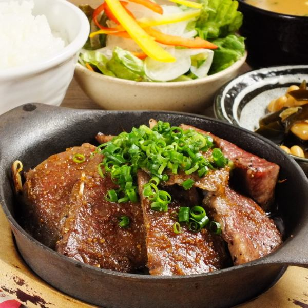Kuroge Wagyu beef cut sticks beyond the A4 rank Thickly cut sirloin steak (160 g) Only the core of the part is cut luxuriously thickly.