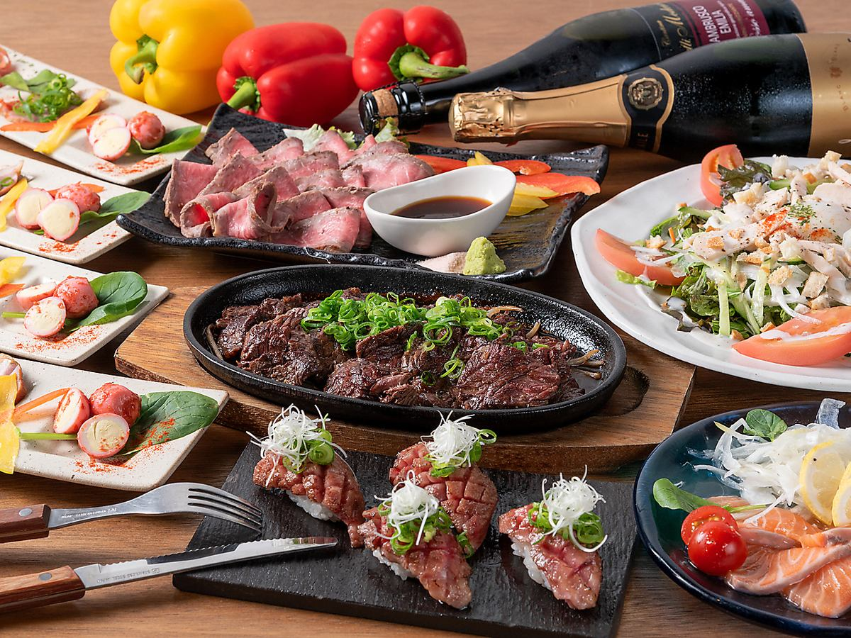 Amagasaki area First appearance of meat bar that can be enjoyed by multiplayer ♪ All-you-can-drink all-you-can-drink ◎ It can be enjoyed profitably!
