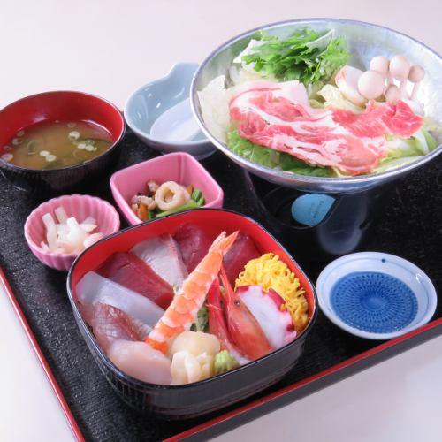 海鮮丼 冬季小鍋付/夏季豚シャブサラダ付