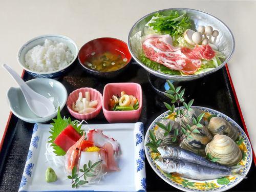 お楽しみ御膳 冬季小鍋付/夏季豚シャブサラダ付